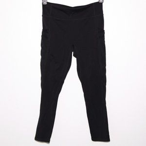 Fabletics Black Yoga Pants Mesh side w/ pockets M